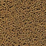 Miyuki Rocailles Beads 2mm 4492 Duracoat opaque dyed Topaz ca 12gr