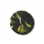 Swarovski Elements Rivolis 14mm Olivine foiled 6 Stück