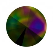 Swarovski Elements Rivolis 14mm Crystal Dark Rainbow foiled 6 Stück
