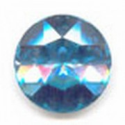 Swarovski Elements Stein rund 27mm Aquamarine Foiled