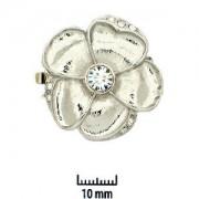 Schmuckverschluss Blüte 31mm Silber mit Swarovski Elements Steinen
