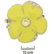 Schmuckverschluss Blüte 31mm Gelb mit Swarovski Elements Steinen