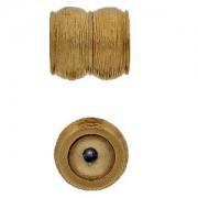 Magnetverschluss 23Karat Goldauflage 13x14mm
