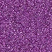 Miyuki Rocailles Beads 1.5mm 2202 magentalined rainbow Crystal ca 11gr