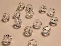 Glasschliffperlen 4mm Crystal irisierend 100 Stück