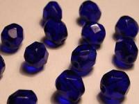 Glasschliffperlen 8mm Cobalt blau 20 Stück