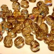 Glasschliffperlen 4mm Black diamond irisierend 100 Stück