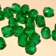 Glasschliffperlen 4mm Smaragd 100 Stück