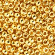 Miyuki Rocailles Beads 4mm 0191 24 kt gold plated 20gr