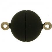 Magnetverschluss Kugel 12mm schwarz matt