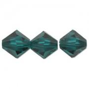 Swarovski Elements Perlen Bicones 6mm Emerald 50 Stück