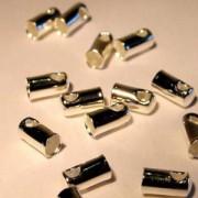 Endkappe für Bänder 1,9mm versilbert 10 Stück im Beutel