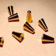 Memorywire Endkappe Kegel 6,5mm vergoldet 1Stück