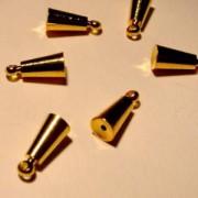 Memorywire Endkappe Kegel mit Ring 6,5mm vergoldet 1 Stück
