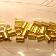 Quetschperlen Innendurchmesser 2mm Aussendurchmesser 2,5mm vergoldet ca 40Stk.