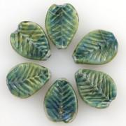 Unicorne Blattförmige Glasperlen Multi Forrest, 1 Stück