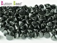 Button Beads 4mm Jet Hematite ca 50 Stück