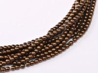 Glasperlen rund gepresst Jet Bronze 2mm ca 150 Stück