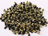 Glasperlen rund gepresst Jet Amber 2mm ca 150 Stück