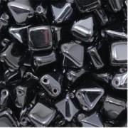 Pyramid Beads 6mm Jet Vacuum Hematite 10 Stück