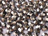 Glasschliffperlen 3mm Jet Heavy Metal Violet 100 Stück