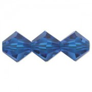 Swarovski Elements Perlen Bicones 6mm Capri Blue 50 Stück