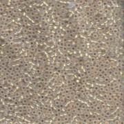 Miyuki Rocailles Beads 1,5mm 0196 gold lined Opalglas ca 11gr