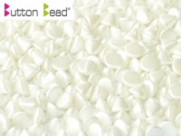Button Beads 4mm Pastel White ca 50 Stück