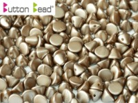 Button Beads 4mm Pastel Light Brown ca 50 Stück