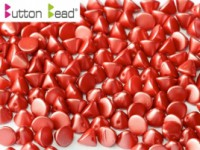 Button Beads 4mm Pastel Dark Coral ca 50 Stück