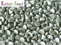Button Beads 4mm Pastel Light Grey ca 50 Stück