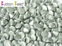 Button Beads 4mm Metallic Silver ca 50 Stück