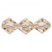 Swarovski Elements Perlen Bicones 4mm Light Peach 100 Stück