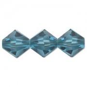Swarovski Elements Perlen Bicones 4mm Indicolite 50 Stück