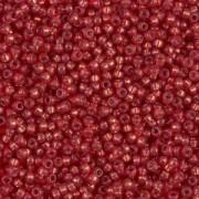 Miyuki Rocailles Beads 1,5mm 4234 Duracoat Silverlined Salmon ca 11gr