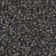 Miyuki Rocailles Beads 1,5mm 4251 Duracoat Silverlined dark Charcoal ca 11gr
