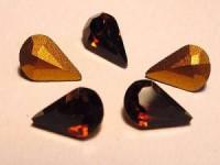 Swarovski Elements Steine Teardrop 4300 8x4,8mm Smoked Topaz F 10 Stück