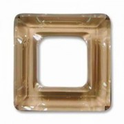 Swarovski Elements Square Ringe 14mm Crystal Golden Shadow 1 Stück