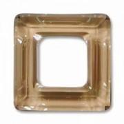 Swarovski Elements Square Ringe 20mm Crystal Golden Shadow 1 Stück