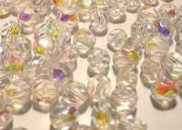 Glasschliffperlen 6mm Crystal irisierend