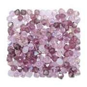 Swarovski Elements Perlen Bicones 4mm Mix Lilacs 144 Stück