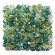 Swarovski Elements Perlen Bicones 4mm Mix Evergreen 144 Stück