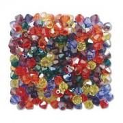 Swarovski Elements Perlen Bicones 4mm Mix transparent Rainbow AB 144 Stück