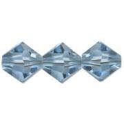 Swarovski Elements Perlen Bicones 4mm Aquamarine 50 Stück