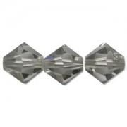 Swarovski Elements Perlen Bicones 4mm Black Diamond 50 Stück