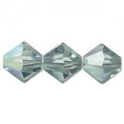 Swarovski Elements Perlen Bicones 4mm Erinite AB beschichtet 50 Stück