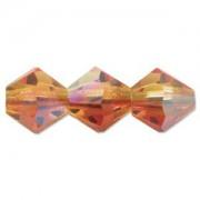 Swarovski Elements Perlen Bicones 4mm Fire Opal AB beschichtet 50 Stück