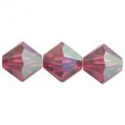 Swarovski Elements Perlen Bicones 4mm Fuchsia AB beschichtet 50 Stück