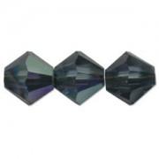 Swarovski Elements Perlen Bicones 4mm Montana AB beschichtet 100 Stück
