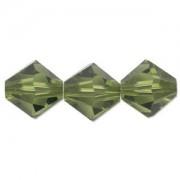 Swarovski Elements Perlen Bicones 4mm Olivine 50 Stück